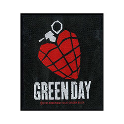 Green Day Standard Patch: Heart Grenade