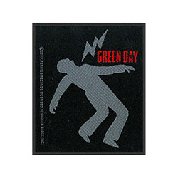 Green Day Standard Patch: Lightning Bolt