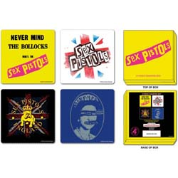 The Sex Pistols Coaster Set: Mixed