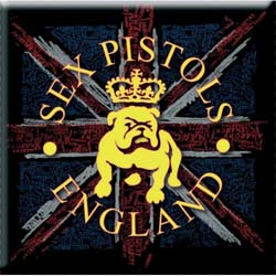 The Sex Pistols Fridge Magnet: Bull Dog & Flag