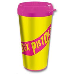 The Sex Pistols Travel Mug: Classic Logo with Plastic Body