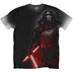 Star Wars Men's Tee: Episode VII Kylo Side Print with Sublimation Printing
