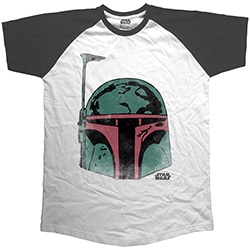Star Wars Men's Raglan Tee: Boba Head