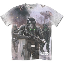 Star Wars Men's Tee: Rogue One Death Trooper with Sublimation Printing