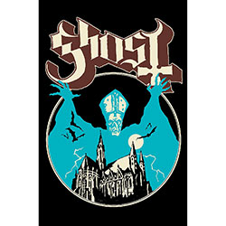 Ghost Poster: Opus Eponymous with Textile fabrication