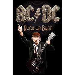 AC/DC Textile Poster: Rock Or Bust / Angus