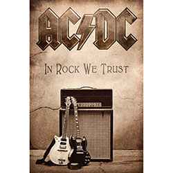 AC/DC Textile Poster: In Rock We Trust