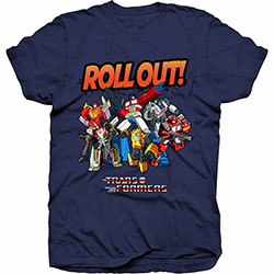 Hasbro Men's Tee: Transformers Roll Out