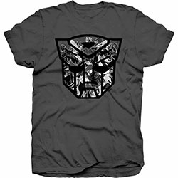 Hasbro Men's Tee: Transformers Autobot Shield Black/White