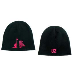 U2 Men's Beanie Hat: Under a Blood Red Sky