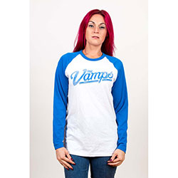 The Vamps Ladies Raglan Tee: Ball with Back Printing