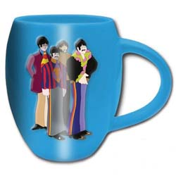 The Beatles Boxed Oval Mug: Yellow Submarine Sub Band with Oval Shaping and Embossed Finish