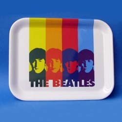 The Beatles Plastic Tray: Head in Bands with Rectangular Body