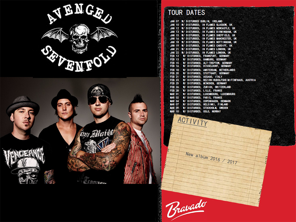 Avenged Sevenfold Artist Activity 2016 - 2017