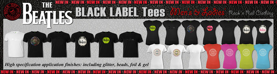 The Beatles Application Black Label Tees
