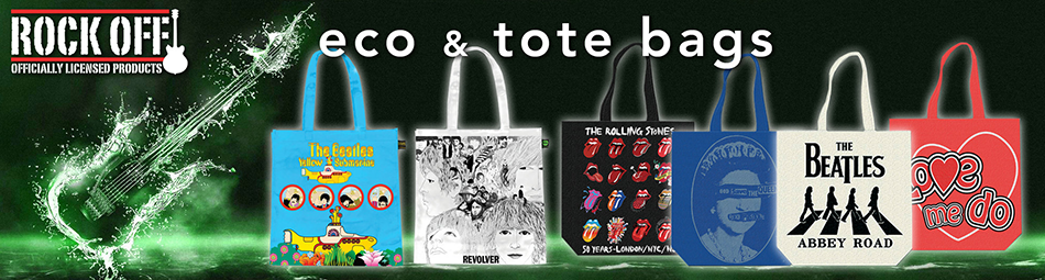 Wholesale Band Eco-Bags available to order at Rock Off wholesale & trade only