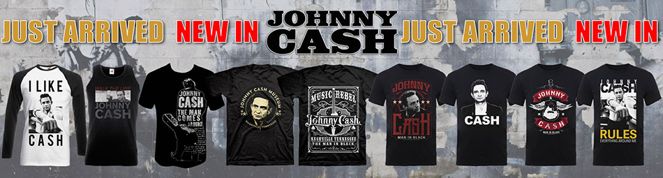 Johnny Cash new tee designs May 2017