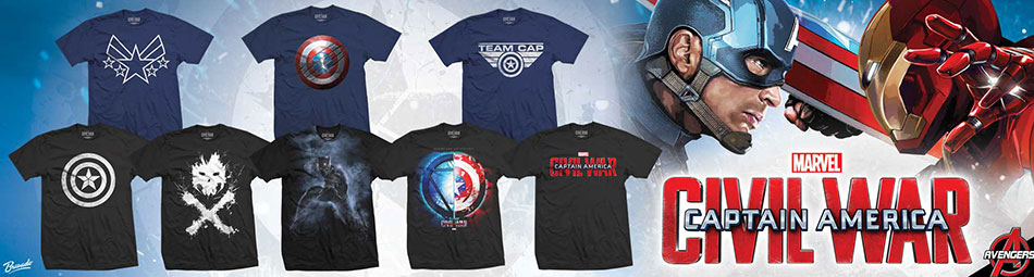 Captain America Civil War Banner Tees