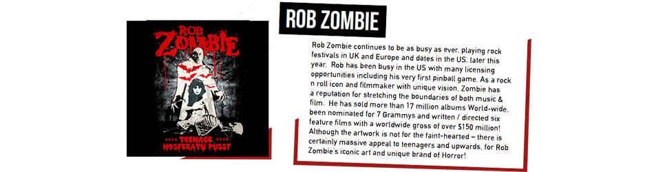 Rob Zombie Artist Activity Banner from June 2017 - Artist Page Banner