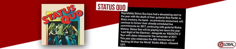 Status Quo Artist Activity Banner from June 2017 - Artist Page Banner