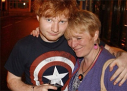 Ed Sheeran in Captain America Tee
