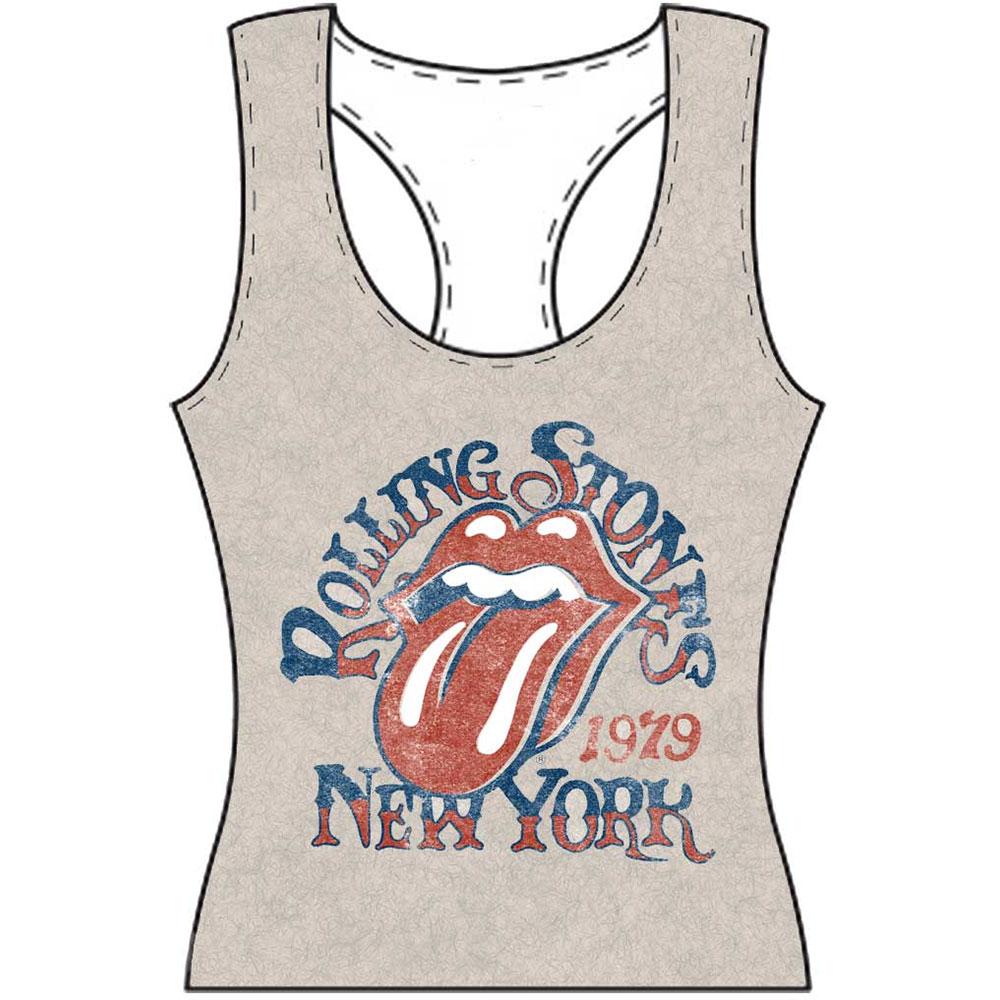 The Rolling Stones Ladies Tee Vest: New York