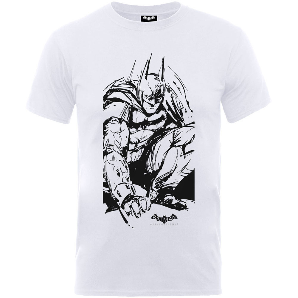 Batman Arkham Sketch Boys White TS