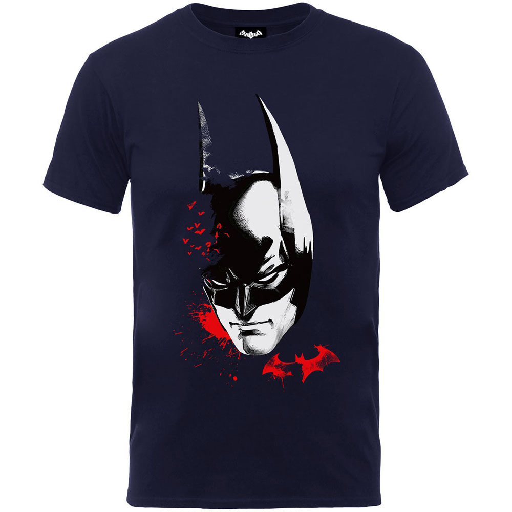 Batman Arkham Face Boys Navy TS