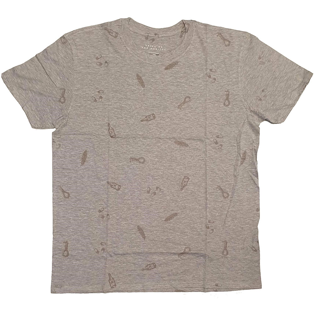 NEW-Bring-Me-The-Horizon-Men-039-s-Tee-Not-so-Happy-with-All-over-printing