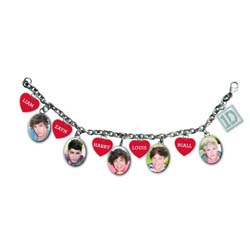 One Direction Bracelet: 5 Head Shots (Charms)
