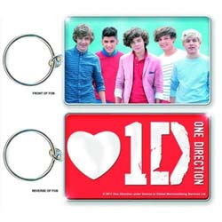 One Direction Keychain: Band Shot & Logo (Double Sided)