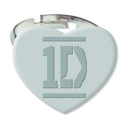 One Direction Ring: Silver Colour Heart