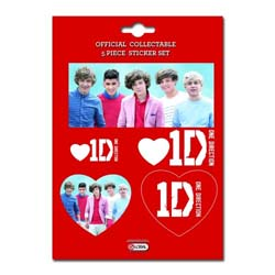 One Direction Sticker Set: Group Shots