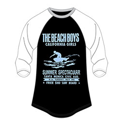 The Beach Boys Ladies Raglan Tee: Spectacular