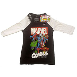 Marvel Comics Ladies Raglan Tee: Marvel Comics Group