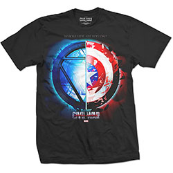 Marvel Comics Men's Tee: Captain America Civil War Whose Side? (Large)