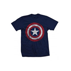 Marvel Comics Men's Tee: Captain America Shield Distressed (X-Large)