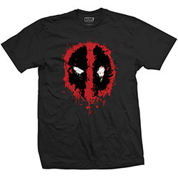 Marvel Comics Unisex Tee: Deadpool Face (Large)