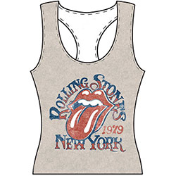 The Rolling Stones Ladies Tee Vest: New York