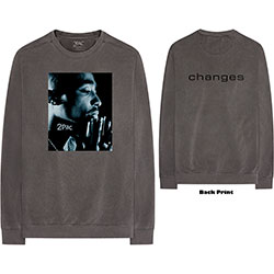 Tupac Unisex Long Sleeve Tee: Changes Side Photo (Back Print)