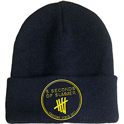 5 Seconds of Summer Men's Beanie Hat: Derping Stamp