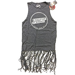 5 Seconds of Summer Ladies Tee Dress: Derping Stamp Vintage with Tassels