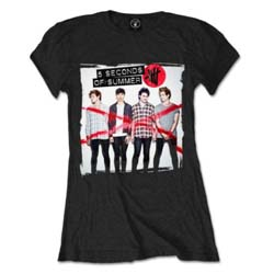 5 Seconds of Summer Ladies Tee: Album Cover 1