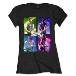 5 Seconds of Summer Ladies Tee: Live in Colours