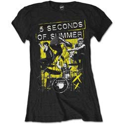 5 Seconds of Summer Ladies Tee: Live!