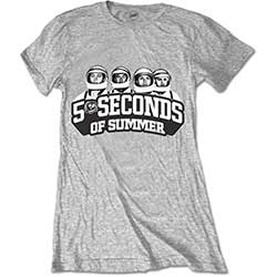 5 Seconds of Summer Ladies Tee: Spaced Out Crew