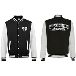 5 Seconds of Summer Men's Varsity Jacket: Logo with Back Printing