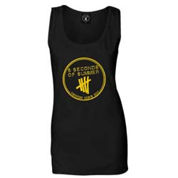 5 Seconds of Summer Ladies Vest Tee: Derping Stamp