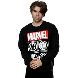 Marvel Comics Men's Sweatshirt: Avenger Icons (Small)