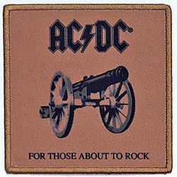 AC/DC Standard Patch: For Those About To Rock (We Salute You) (Album Cover)